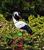 Садовая фигура Семья журавлей керамических №1 на металлических лапах, фото 2