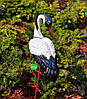 Садовая фигура Семья журавлей керамических №1 на металлических лапах, фото 3