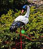 Садовая фигура Семья журавлей керамических №1 на металлических лапах, фото 4