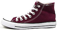Женские высокие кеды Converse Chuck Taylor All Star High Bordo Конверс Чак Тейлор Олл Старс бордовые