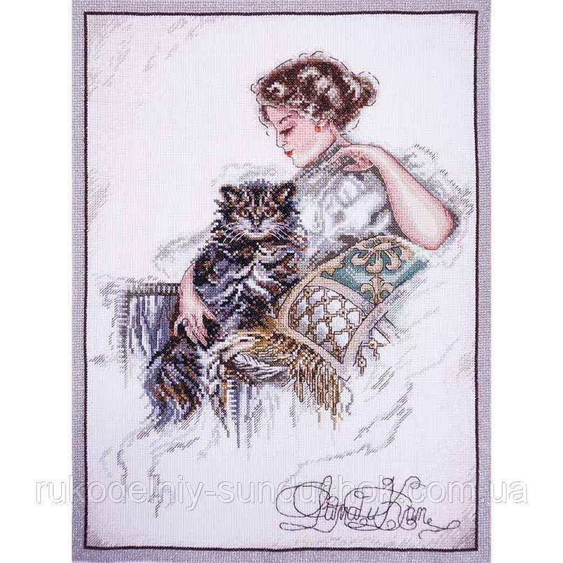 Набір для вишивання хрестом ТМ Мар'я Майстриня 06.004.09 Дама і кіт