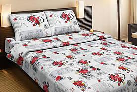 Постельное белье Lotus  Ranforce Love letter красный двуспального размера