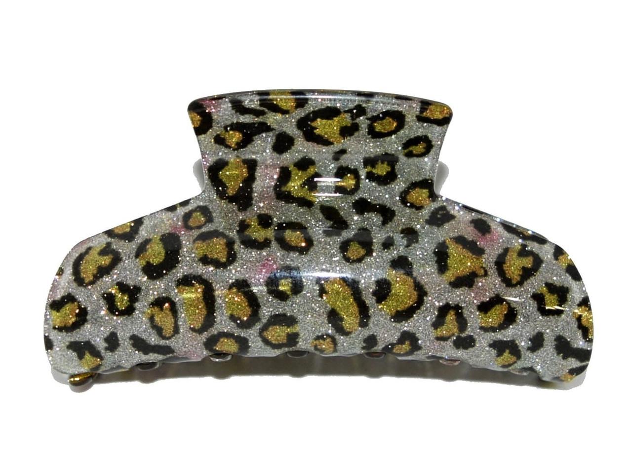 Заколка крабдля волос - леопард жолтый