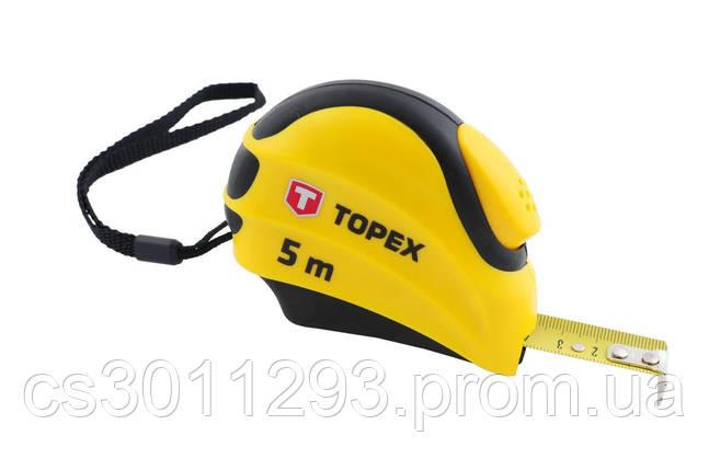 Рулетка Topex - 7,5 м х 25 мм, автостоп, фото 2