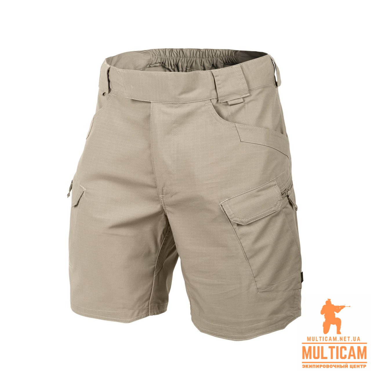 "Шорти Helikon-Tex® UTS (Urban Shorts®) 8.5""® - PolyCotton Ripstop - Khaki"