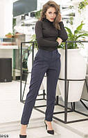 Женские брюки классические темно-синие 58129