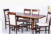 Деревянный обеденный стол -ДУЭТ, раздвижной (цвет -орех), фото 5