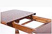 Деревянный обеденный стол -ДУЭТ, раздвижной (цвет -орех), фото 6