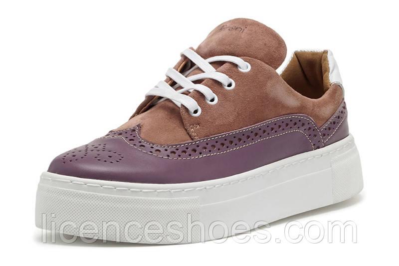 Женские кроссовки, кеды, оксфорды Broni Jeans Original (Сиреневый цвет)