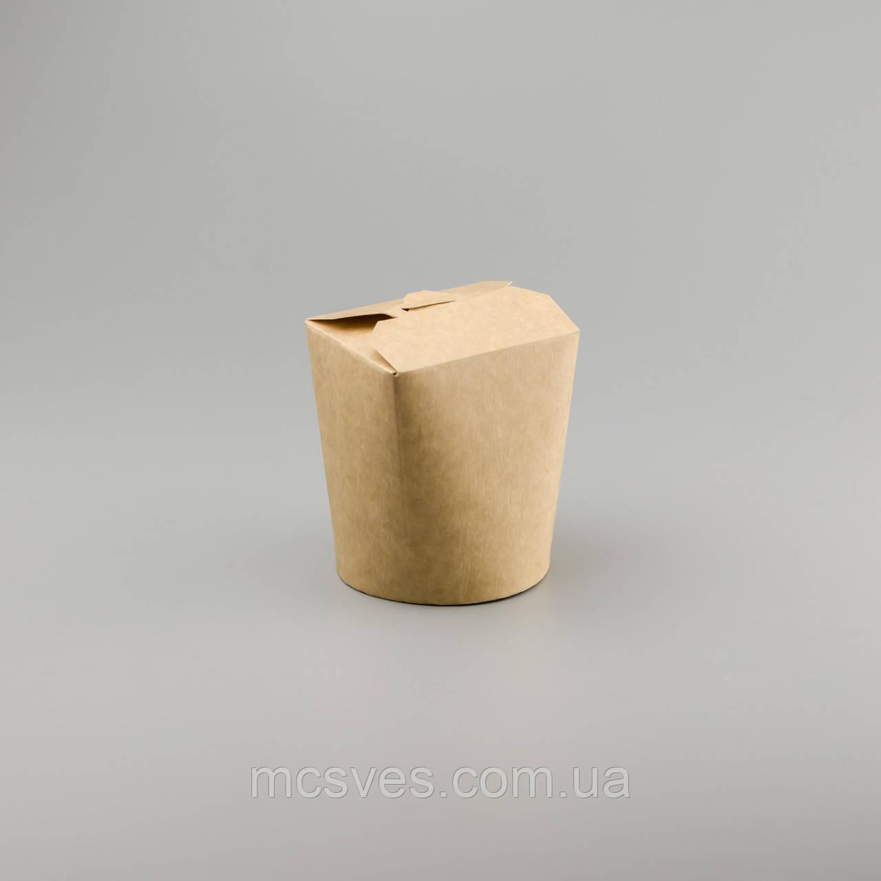 Бумажная крафтовая упаковка для лапши, китайской еды, пельменей, вареников, салатов, Паста Бокс, 750 мл
