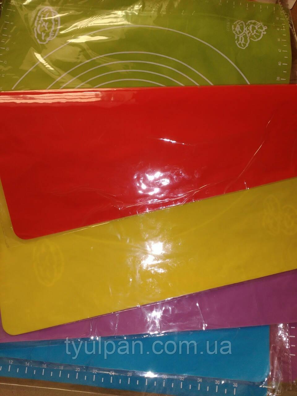 Коврик силиконовый для мастики и выпечки  с разметками 45*35