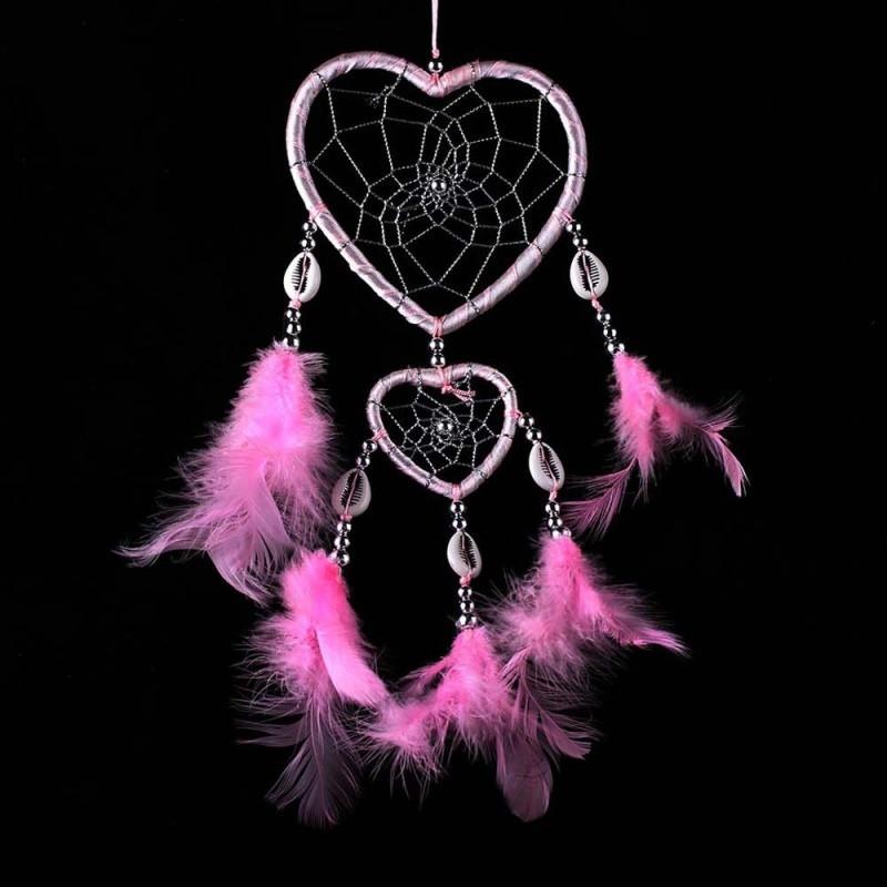 Ловец снов  Сердца, цвет розовый