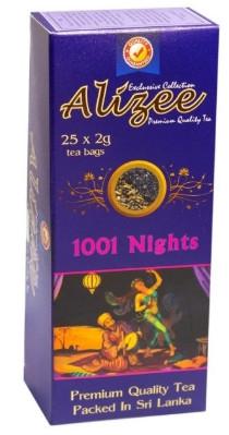 Смесь чая Ализе зеленый с черным 1001 ночь с кусочками клубники и малины 25 пак.