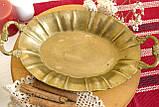 Старая бронзовая тарелка, овальное блюдо, конфетница, бронза Германия, фото 7