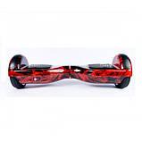 Гироcкутер Smart Balance Pro 6.5 Красный огонь Red Fire TaoTao APP. Гироборд Про червоний вогонь Автобаланс, фото 4
