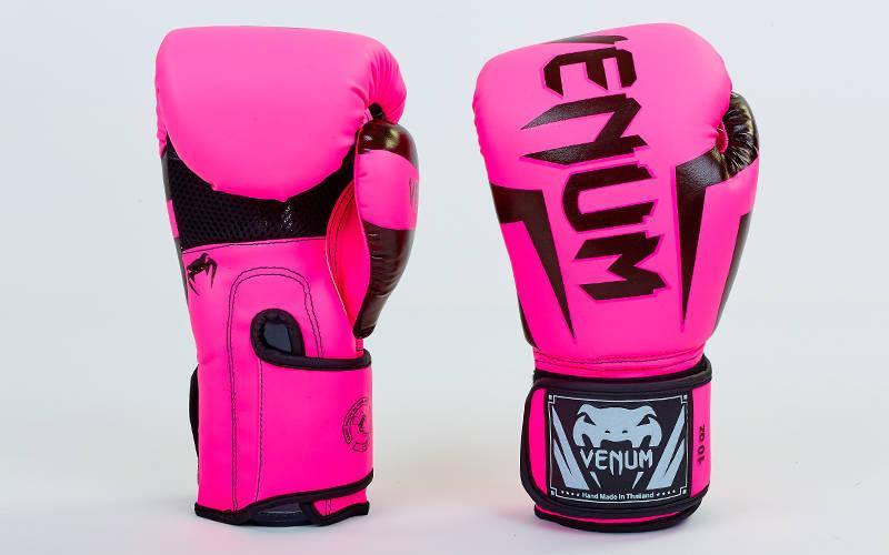 Перчатки боксерские VENUM CHALLENGER BO-5698 (12 унции, Розовый)