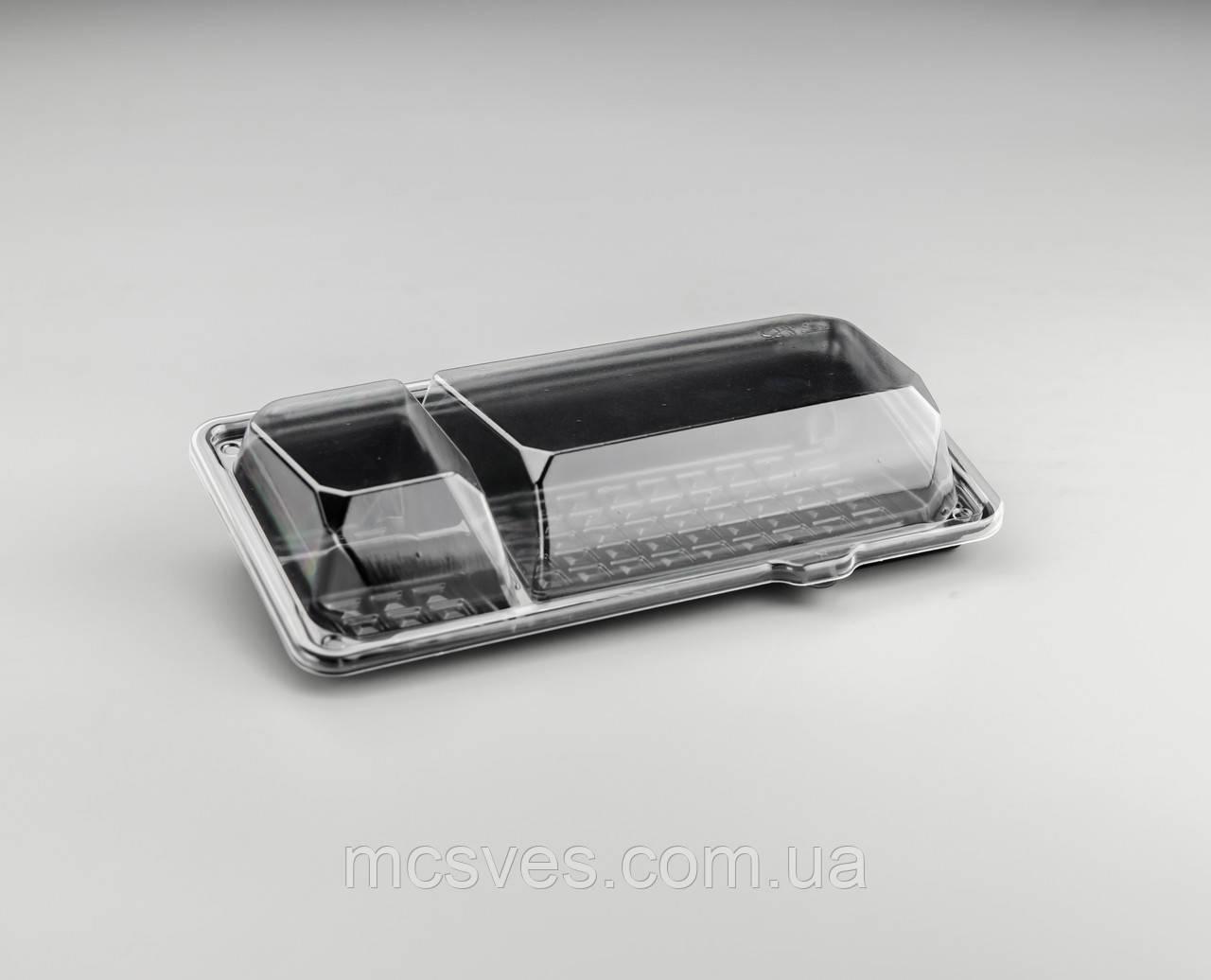 Пластиковая упаковка для суши и роллов С-9С3 PS, 840 шт/уп