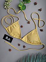 Лиф золотистый купальный женский без чашек (чашки отдельной позицией) серии GOLDEN SUN