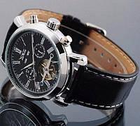 Jaragar 540 Black-Silver-Black Мужские наручные часы механические с автоподзаводом