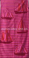 Ярко розовое пляжное полотенце, Кораблики, Турция