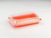 Пластиковая упаковка для суши и роллов C 19 PS Оранжевая, 420 шт/уп