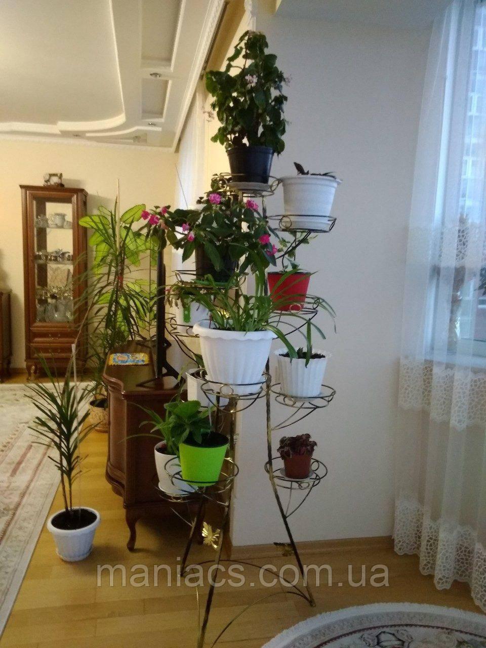 Башня-8, подставка для тяжелых цветов на 12 чаш