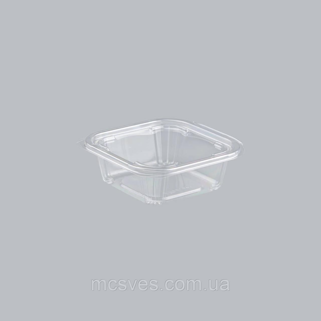 Упаковка для салатов безреберная с совместной крышкой РКСП-350, 450 шт/уп