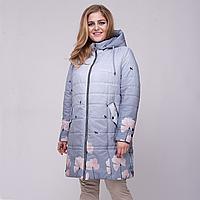 """Демисезонное пальто с капюшоном """"Ирис"""" рр 50-60"""