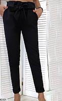 Женские брюки классические черные 45151
