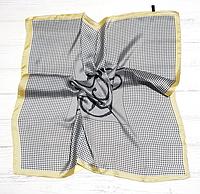 Шелковый шейный платок Мадлен, 70х70 см, песочный