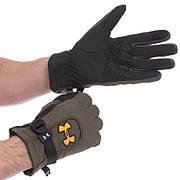 Перчатки спортивные теплые водонепроницаемые UNDER ARMOUR BC-1624 (Черный, L)