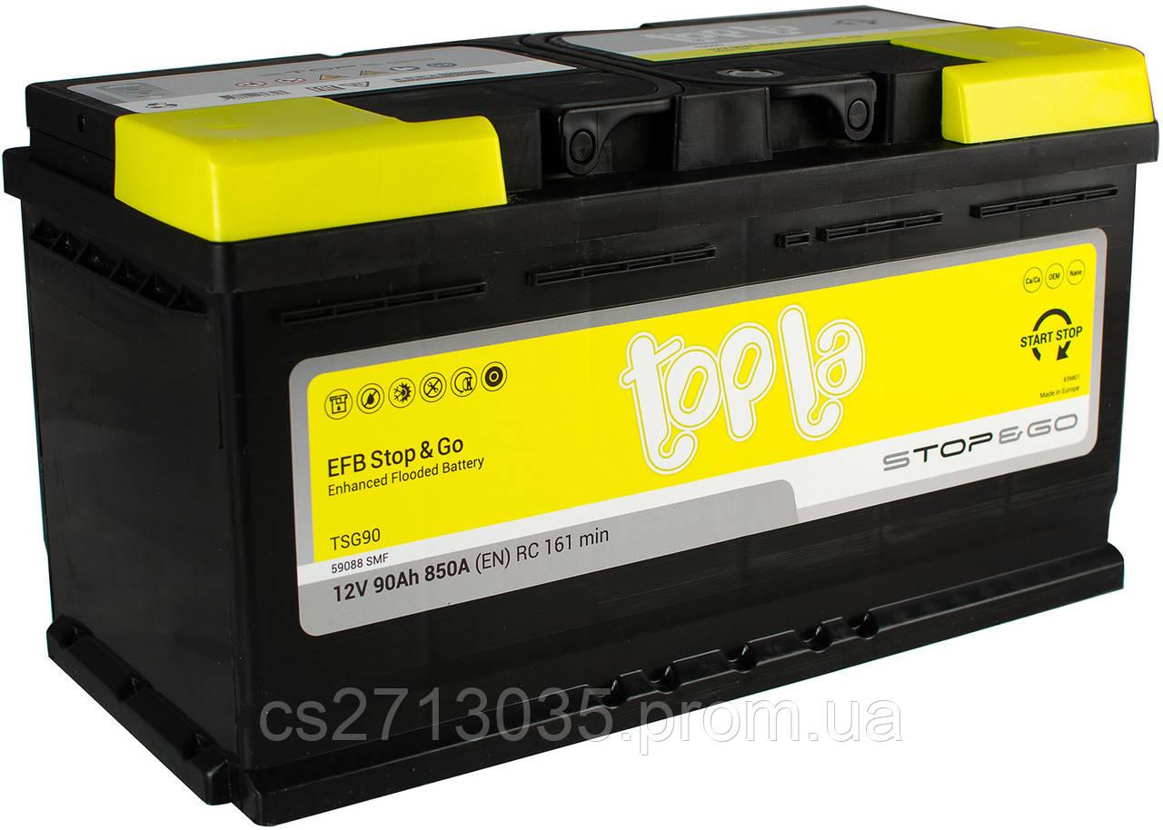 Автомобильный аккумулятор Topla EFB 90 Ач 850 А (0) R+