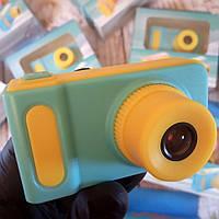 Детский цифровой фотоаппарат Smart Kids Camera V7 синий (Живые фото!)