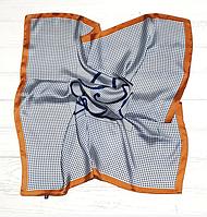 Шелковый шейный платок Мадлен, 70х70 см, терракотовый