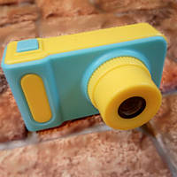 Детский фотоаппарат - цифровая фотокамера Summer Vacation Smart Kids Camera желтый-синий (Живые фото!)