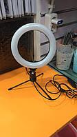 Кольцевая настольная лампа для макияжа, для блогеров, диаметр 16 см