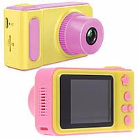 Детский цифровой фотоаппарат Smart Kids Camera V7 розовый (Живые фото!)