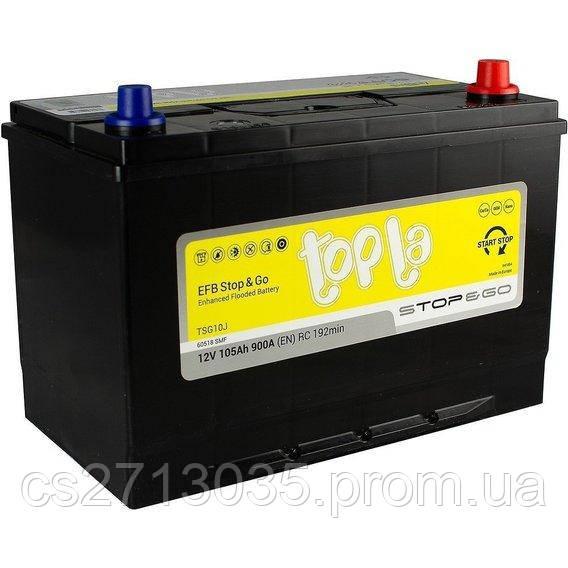 Автомобильный аккумулятор Topla EFB asia 105 Ач 900 А (0) R+