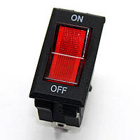 Кнопка RS606 On-Off узкая (250V, 16A, 3 контакта)