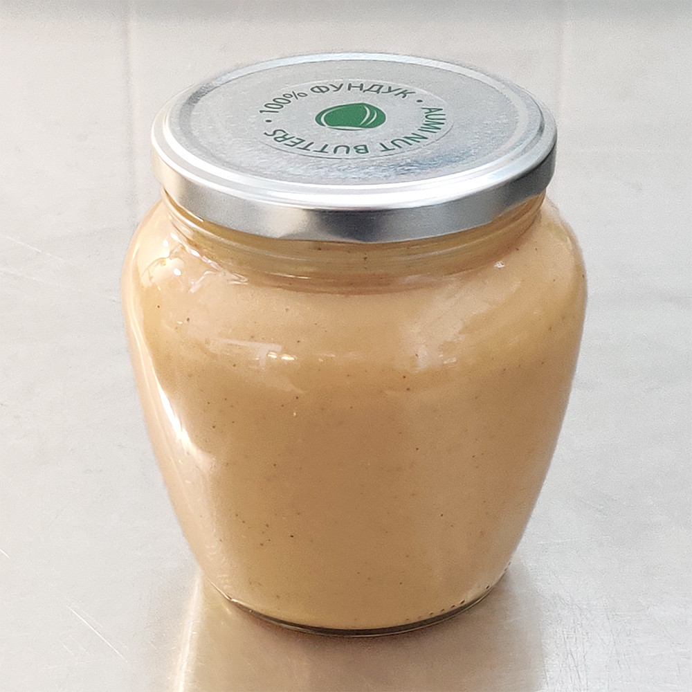 Фундучная паста классическая, 500г СТЕКЛО, натуральная без сахара и добавок, всегда свежая, насыщенный вкус