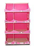 Кукольный домик-шкаф Hega с росписью розовый (090B), фото 2