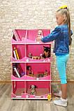 Кукольный домик-шкаф Hega с росписью розовый (090B), фото 4