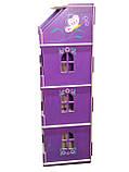 Кукольный домик-шкаф Hega с росписью сиреневый (090C), фото 2
