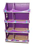 Кукольный домик-шкаф Hega с росписью сиреневый (090C), фото 3
