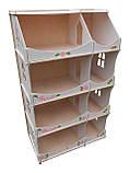 Кукольный домик-шкаф Hega с росписью белый (090A), фото 2