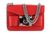 Итальянская женская сумка из натуральной кожи. Цвет: Красный, фото 1
