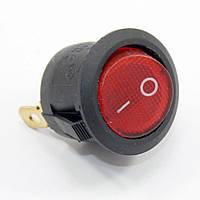 Кнопка KCD1-2 (250V 6A) черно-красная, 3 контакта