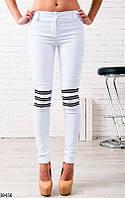 Женские брюки классические белые 39456