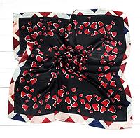 Шейный платок Камилла из вискозы и шелка, 70х70 см, черный