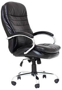 Кресло Валенсия В хром (усиленный AnyFix) ТМ Richman Черный